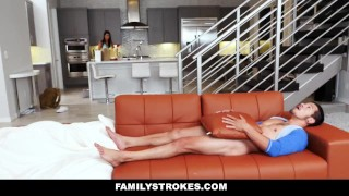 FamilyStrokes - Making My Hot StepCousin Squirt Doggystyle gina