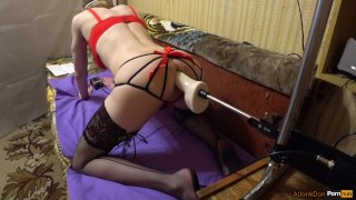 Ts blondie fucking a fucked in doggystyle a machines sex clothing