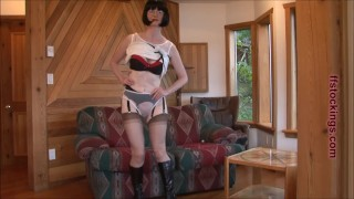 FFstockings - Mature sheer panty tease