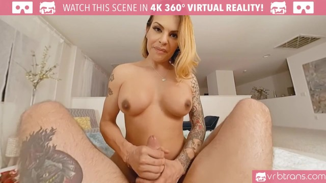 VRB Trans - Sexy tranny TS Foxxy gets fucked in her tight ass and Blowjob 15