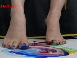 Messy Foot Worship