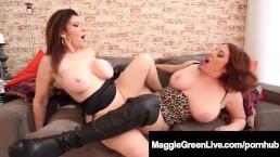 Sex Fiends Maggie Green & Sara Jay Boob Play & Scissor Fuck!