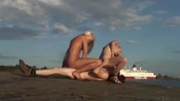 nordic teen threesome sex in public