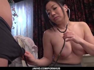 Busty Shino Izumi loves sucking the cock until orgasm