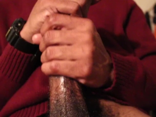 Black Guy Slow Stroking Dick