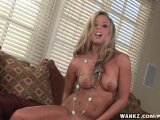 WANKZ- Ashley Jensen Uses Her Dildo