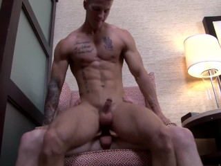 ActiveDuty Quentin Gainz Fucks Raw with Cute Army Brat