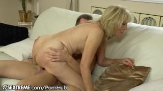 21SeXtreme Horny Granny Rides Young Studs Throbbing Cock porno