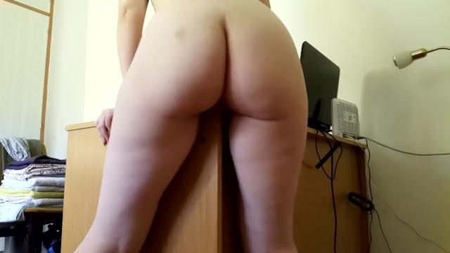 Tits rubbing against Little redhead rubs against a desk and cums hard