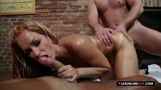 LaSublimeXXX Stacy Silver has anal threesome two young guys