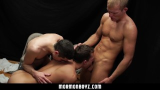 MormonBoyz-Hot Thressome Takes Place Between Missionary Friends