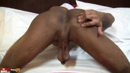 Big Dick Thomas Tekno jacks and shoots his load