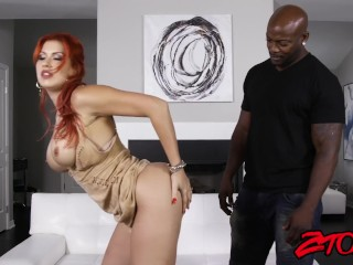 Busty ginger milf Savana Styles drilled and facialized by bbc