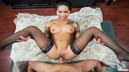 BaDoinkVR.com Inked Asian Teen Babe Honey Gold Needs Your Cock