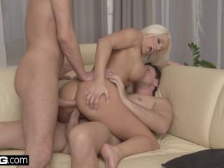 GLamkore – Fit Czech babe Blanche Bradbury Erotic DP Session