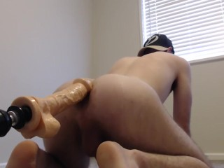 Creaming and Gaping from Big Head Dildo