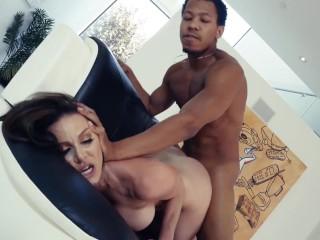 Kendra Lust rides a huge black cock