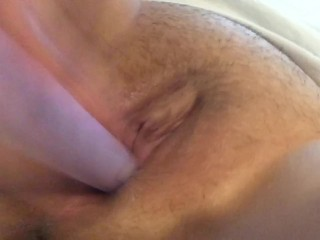 Stretching my extremely tight pussy with a vibrator!