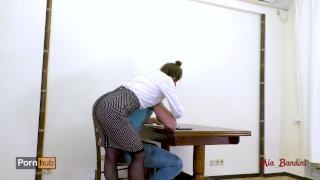 Hot teacher seduces her student fucking her ass to mouth. Mia Bandini Fan pornstar