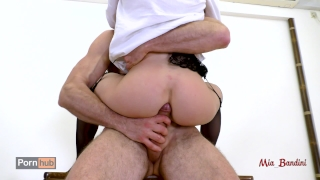 Seduces fucking to student mouth ass teacher hot her her bandini mia fuck to