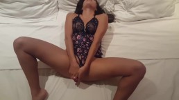 My first time with a dildo it was awesome!!! Teen orgasm big dildo bubble b