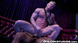 Johnny V Rides Big Black Cock in the Backroom