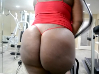 Big Ass Booty on a Treadmill G-STRING SPECIAL