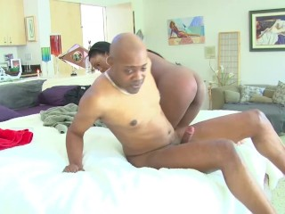 Big Booty Ebony Massage Therapist Fucks Her BBC Client