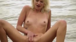 Teeny masturbation outside
