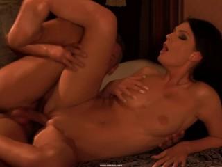 Brunette Whore Enjoys Pussy Banging