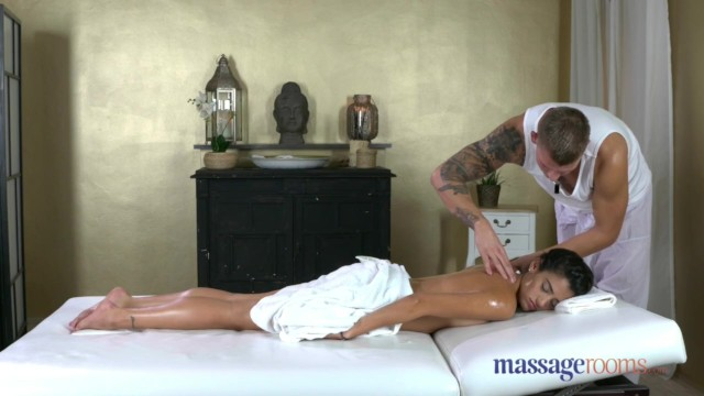 Massage Rooms Spanish tattooed babe gets orgasmic pussy licking and fucking 13