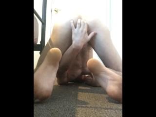 Teen boy having fun with cum