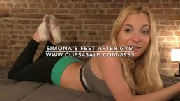 Simona's Feet After Gym - DreamgirlsClips.com