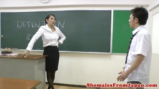Dom nippon newhalf cocksucked by student