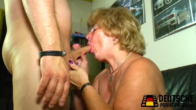 Amateur video mature - Blonde granny with big tits