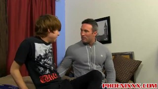 Kyler Moss seduces a handsome hunk daddy and gets fucked porno