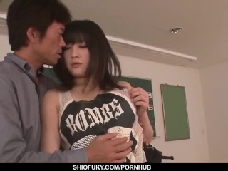 Preview 3 of Kyoka Mizusawa gets inches of cock right in the classroom