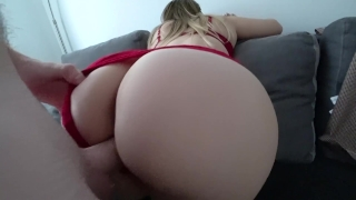 Sex in stockings and through red panties Amatoriali tre