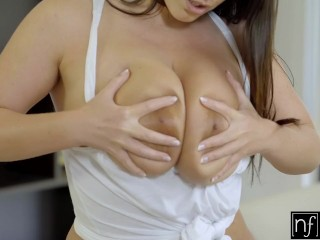 Preview 1 of NF Busty - Angela Whites Huge Natural Tits Bounce S3:E3