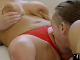 Preview 6 of NF Busty - Angela Whites Huge Natural Tits Bounce S3:E3