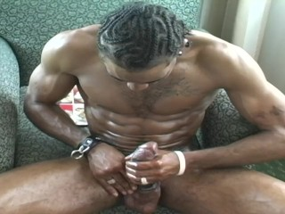 Ruff Ryder Strokes His BBC While Posing For The Camera