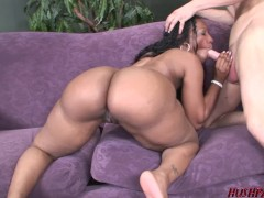 Huge ass babe Cherokee Dass gets a hard fucking