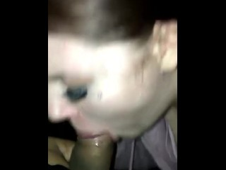 Gagging on husbands cock