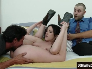 Jennifer White fucked in front of husband