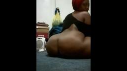 Ebony bbw redhead booty dance