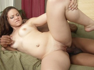 Barely Legal Chubby Teen Rides Big Black Cock and Gets Ass Blasted with CUM