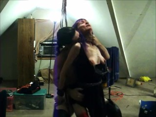 Please Daddy May I Cum- Rough Bondage Fuck with My Petite Wife