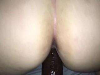 Hot slutty wife fucks cock...