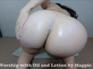 Ass Worship Oil and Lotion Fetish
