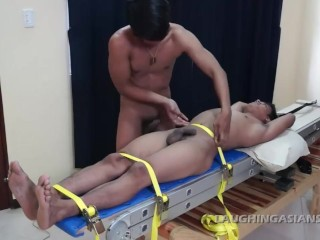 Tickling Straight Asian Boy Willy